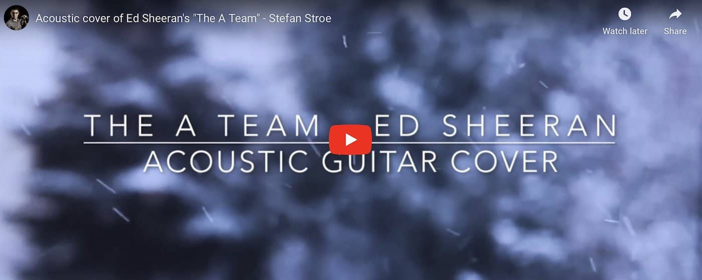 The A team guitar cover Stefan Stroe on Youtube