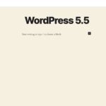 wordpress 5 5