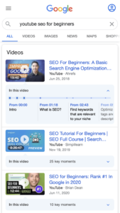 regionsAllowed youtube seo for beginners